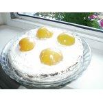 """Торт """"Яичница"""" с персиками"""