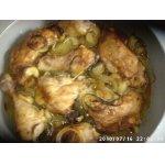 Печeная курица с луком, чесноком и розмарином