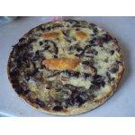 Пирог с баклажанами и грибами