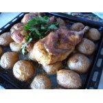 Курица, запечeнная с картофелем