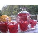 Ледяной чай с клюквой и апельсином