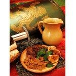 Антрекот под хлебной коркой с коньячным соусом
