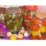 Быстрое консервирование помидор и огурцов