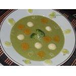 """Суп-крем с творожными шариками """"Зеленая полянка"""""""