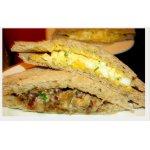 Сэндвичи с грибами и салатом из яиц