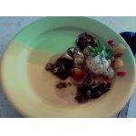 Рулетики рыбные с сыром и виноградом