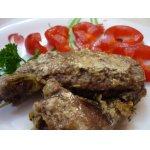 Печень говяжья, томленная в сливках
