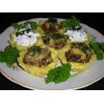 Картофельные корзинки с начинкой из грибов