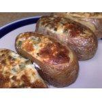 Картофельные лодочки, фаршированные сыром