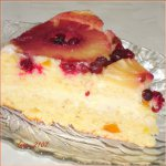 Творожный перевернутый кекс-бисквит с кремом и ананасами