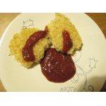 Рисовые котлеты с острым томатным соусом
