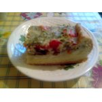Заливной пирог с грибами и картофелем