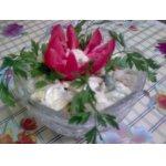 Салатик из цветной капусты и спаржевой фасоли