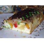 Горячий фруктово-творожный десерт
