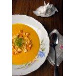 Суп-пюре из тыквы с овсяными хлопьями