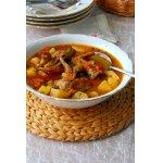 Перепелки в соусе с овощами