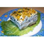 Баклажановый тортик с опятами