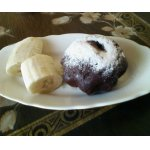 Шоколадный кексик с бананом