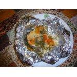Рыба, запеченная с овощами в фольге