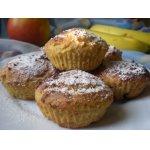 Творожно-кукурузные кексы с фруктами
