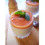 Овощная панна котта с сыром и томатном соусом