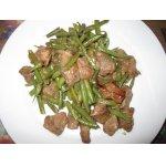 Тушеное мясо с зелeной фасолью