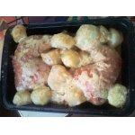 Окорочка с картофелем Сырное искушение