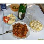 Кабачки жареные с капустой и помидорами