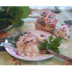 Рисовая запеканка с рыбой