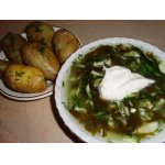 Холодный щавелевый суп с молодым картофелем