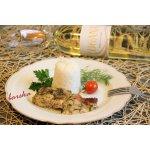Рыба в йогуртово-сметанном соусе с зеленью