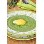 Крем-суп из шпината с яйцом пашот
