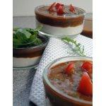 Сырный крем с томатным соусом