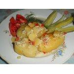 Картофель, фаршированый овощами