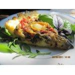 Картофельно-творожный киш с баклажанами, сладким перцем и помидорами