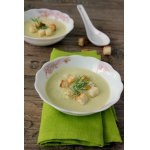 Суп-пюре из кабачков с творогом