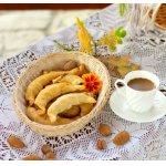 Рогалики с орехово-карамельной помадкой