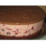 Торт клюквенный с творожным суфле Северные ночи