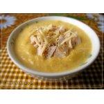 Суп-пюре из тыквы с курицей и сыром