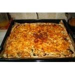 Пицца с грибами и цветной капустой