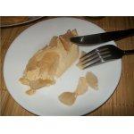 Десерт из запеченной ряженки с яблоками