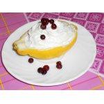 Лимоны, фаршированные йогуртовым кремом