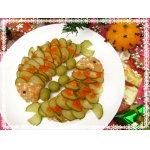 """Праздничная закуска из сельди """"Новогодние рыбки"""""""