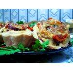 Мясные маффины с сырной корочкой