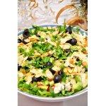 """Салат с рукколой, авокадо и фетой """"Арлекин"""""""