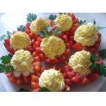 Помидоры с сырно-яичной начинкой