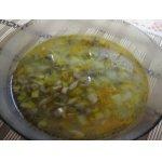 Суп из шампиньонов с паутинкой