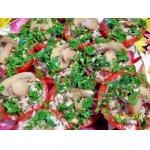Помидоры, фаршированные мясом и грибами