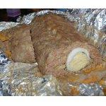 Мясной рулет с яйцом и сыром