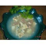 Лeгкий суп с яичницей